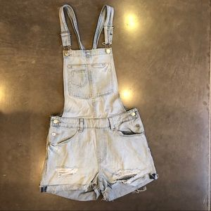 H&M Shorts - H&M Short Denim Overalls Shortalls